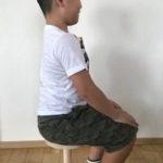 いい姿勢をつくる一脚椅子